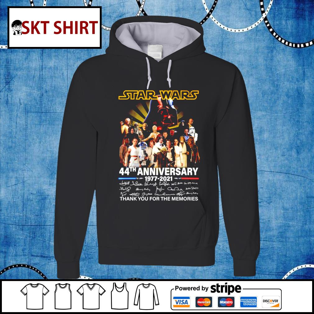 Star Wars 44th anniversary thank you for the memories t-s hoodie