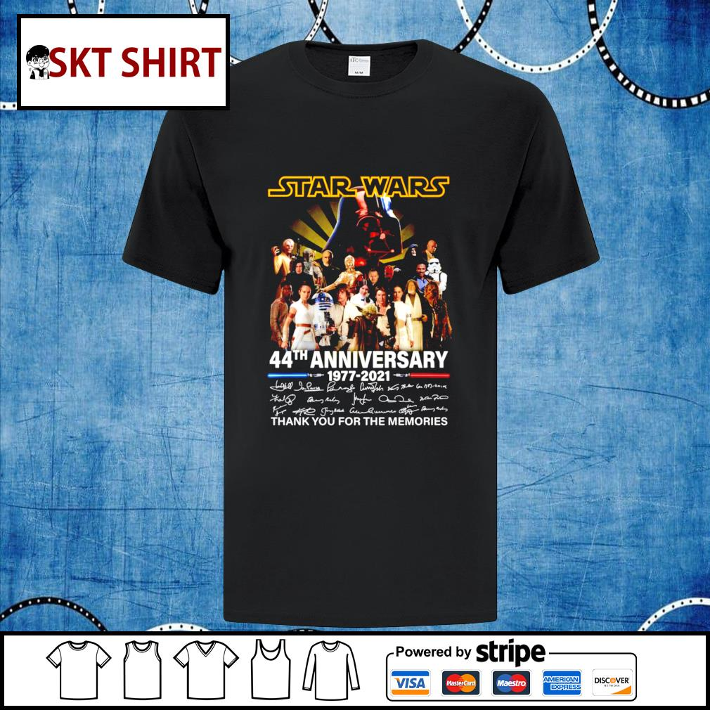 Star Wars 44th anniversary thank you for the memories t-shirt