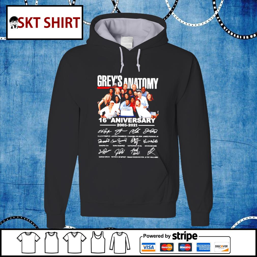 The Grey_s Anatomy 16th anniversary thank you for the memories hoodie