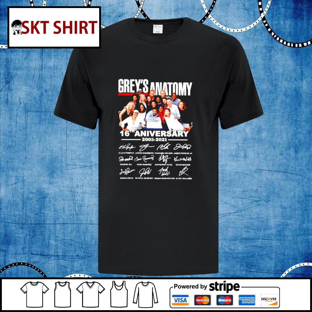 The Grey_s Anatomy 16th anniversary thank you for the memories shirt