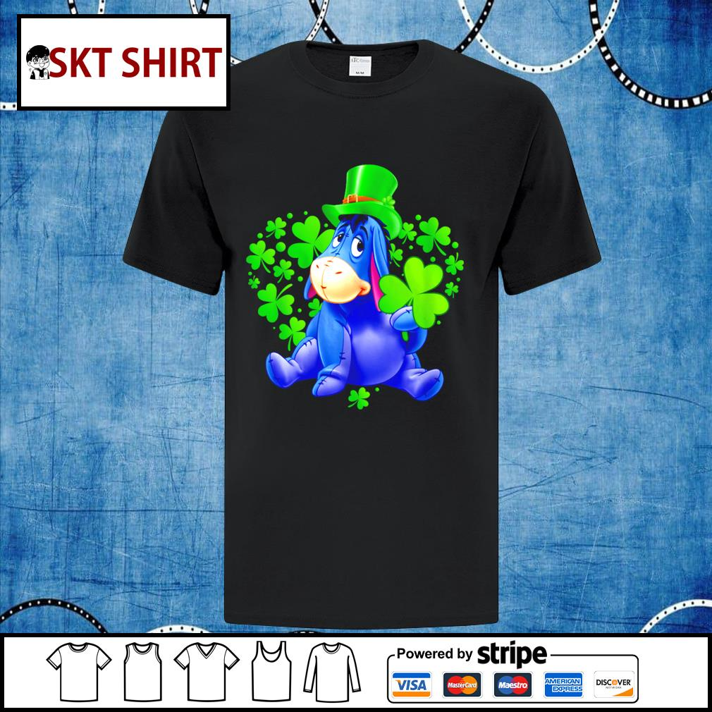 Eeyore Disney heart St.Patrick_s Day Leprechaun shirt