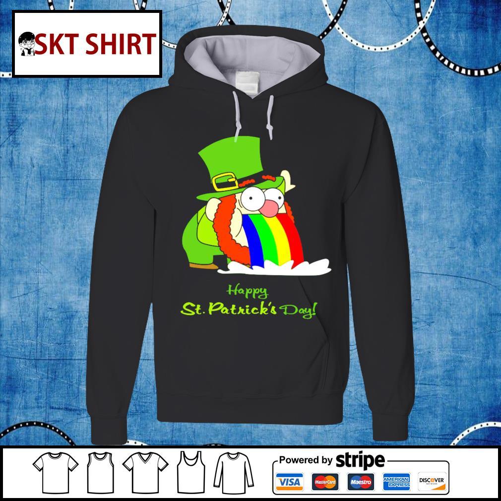 Leprechaun happy St.Patrick's Day rainbow hoodie