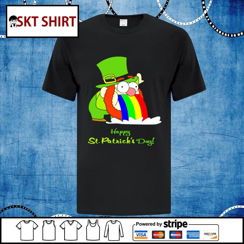 Leprechaun happy St.Patrick's Day rainbow shirt