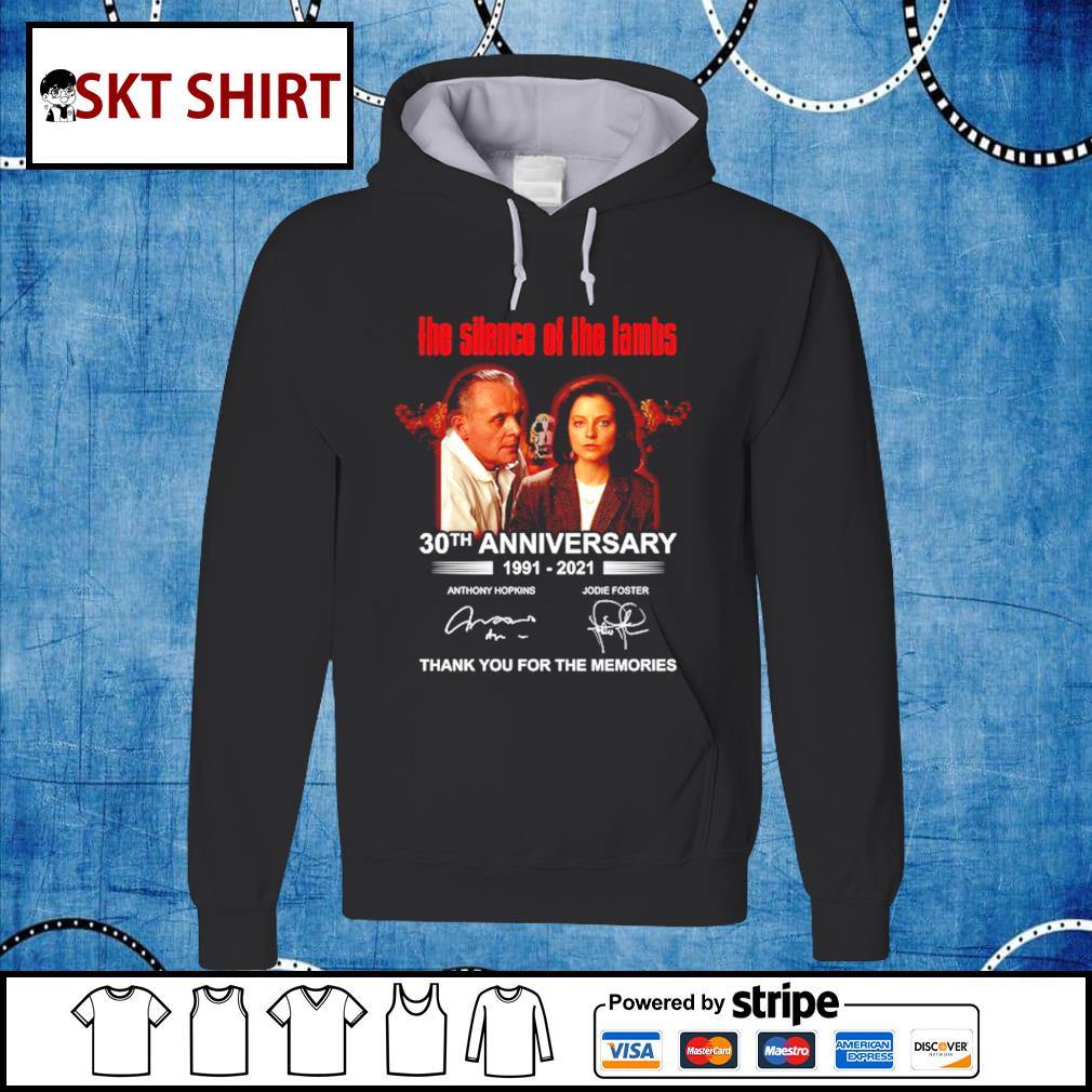 Men's The Silence Of The Lambs 30th anniversary thank you for the memories hoodie