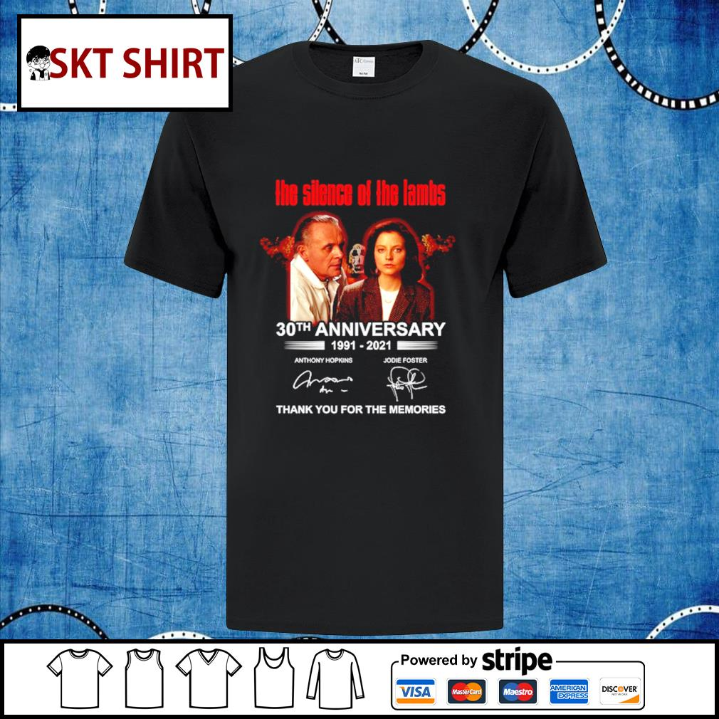 Men's The Silence Of The Lambs 30th anniversary thank you for the memories shirt