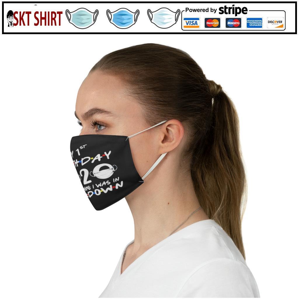 1st Lockdown Birthday 2020 face mask 3