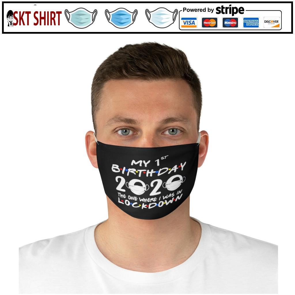 1st Lockdown Birthday 2020 face mask 4