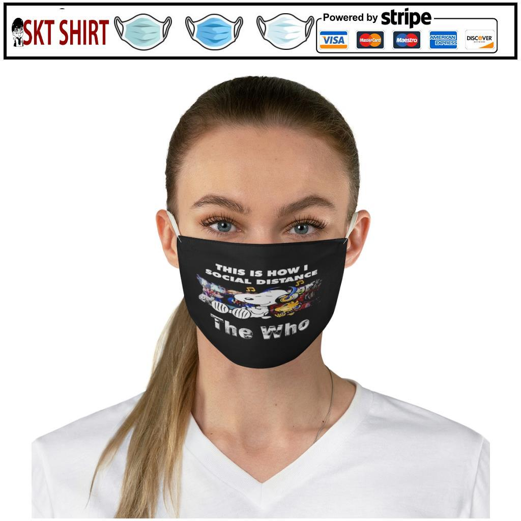 Snoopy this is how i social distance The Who face mask 2