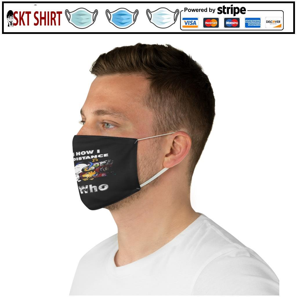 Snoopy this is how i social distance The Who face mask 5