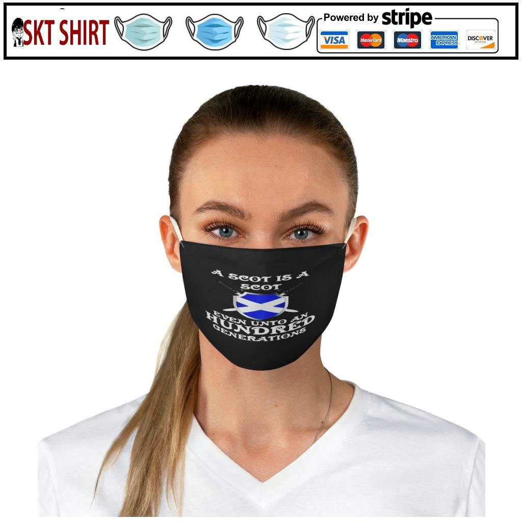 A Scot Is A Scot Even Unto A Hundred Generations face mask b