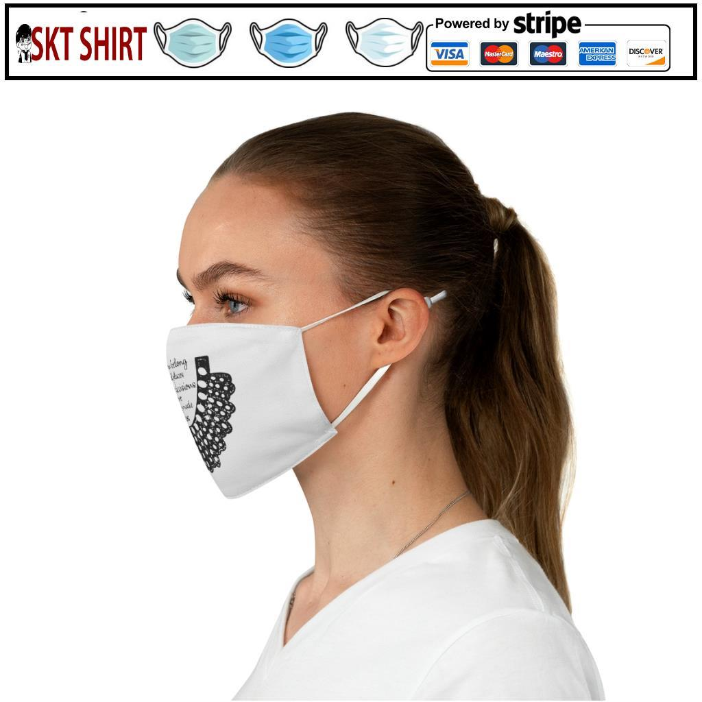 RBG Women Belong In All Places Where Decisions Are Being Made Collar face mask c