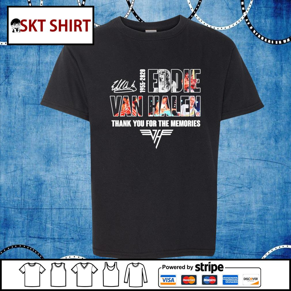 1955-2020 Eddie Van Halen thank you for the memories s kid-shirt