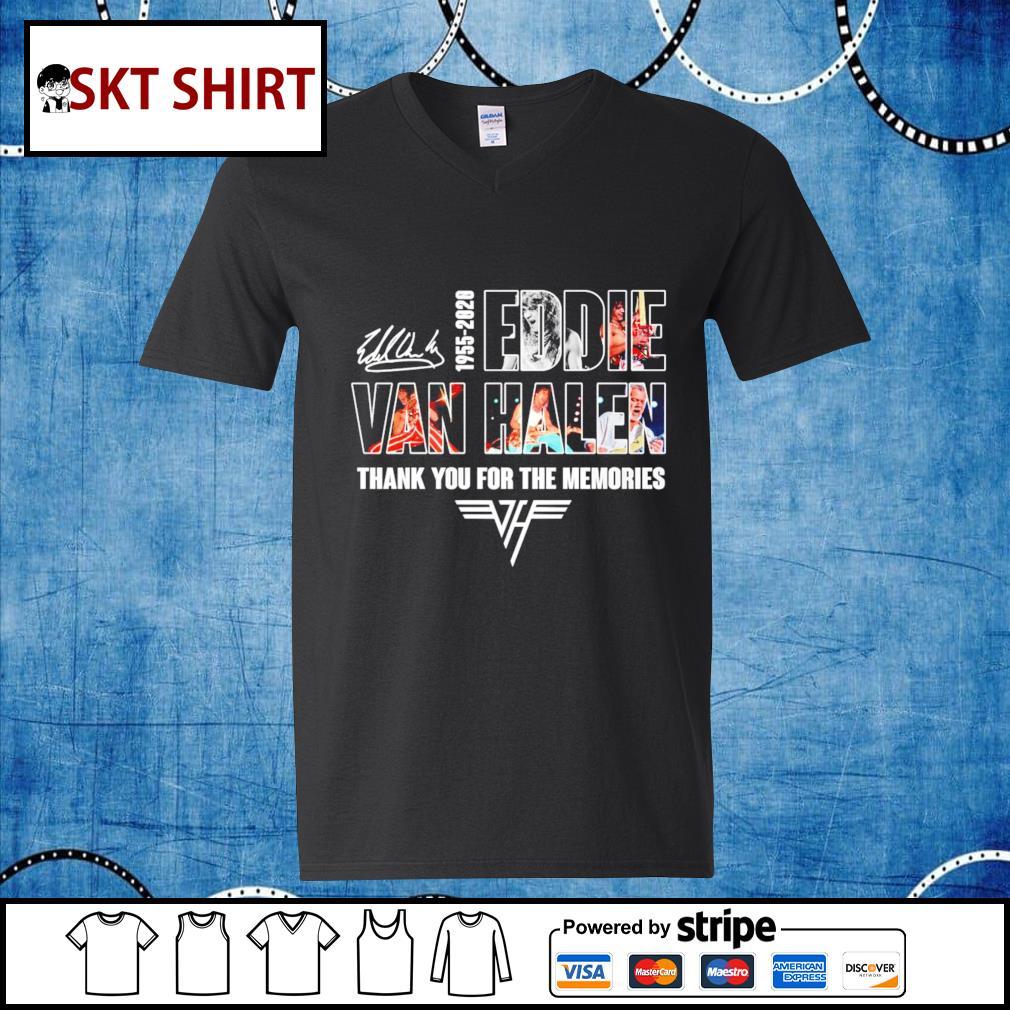 1955-2020 Eddie Van Halen thank you for the memories s v-neck-t-shirt