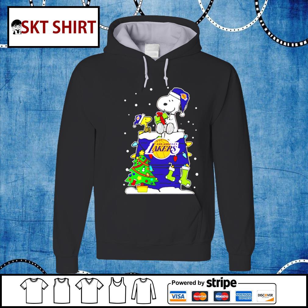 Snoopy Lakers Christmas shirt, sweater hoodie
