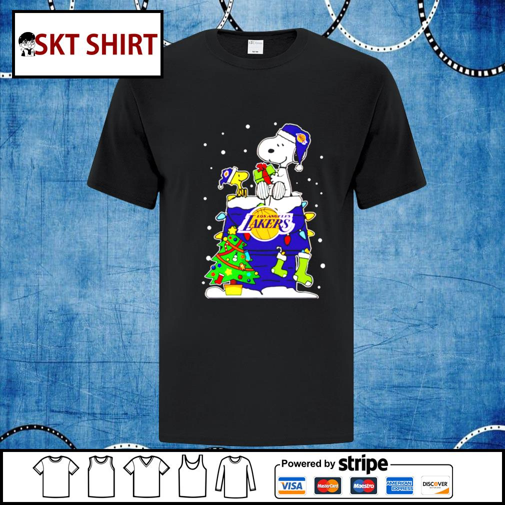 Snoopy Lakers Christmas shirt, sweater