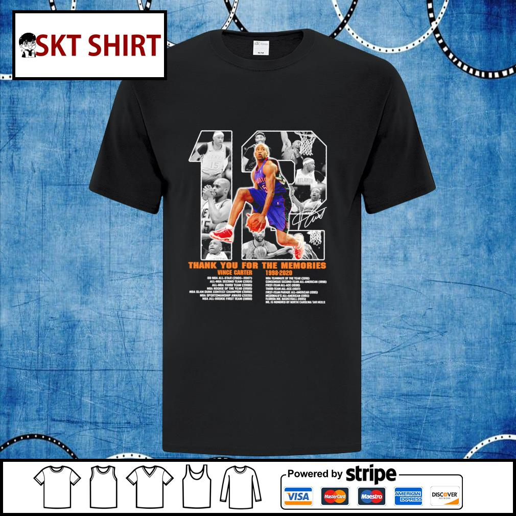 12 Vince Carter 1998-2020 thank you for the memories shirt