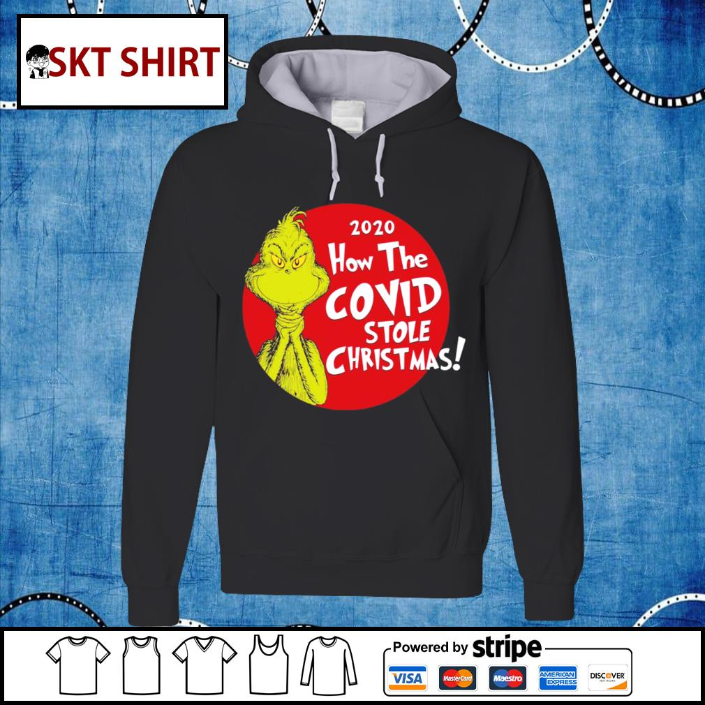 Grinch 2020 how the Covid stole Christmas shirt, sweater hoodie