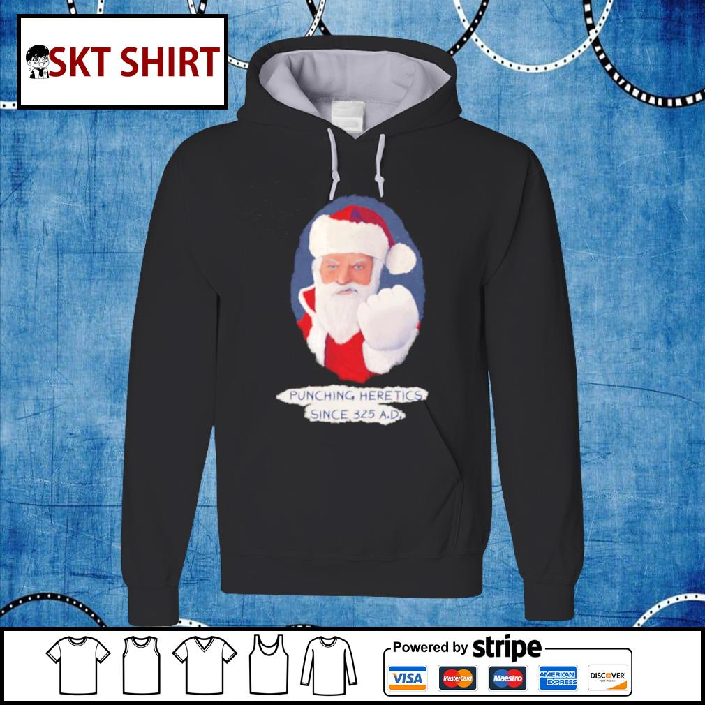 Santa Punching Heretics shirt, sweater hoodie