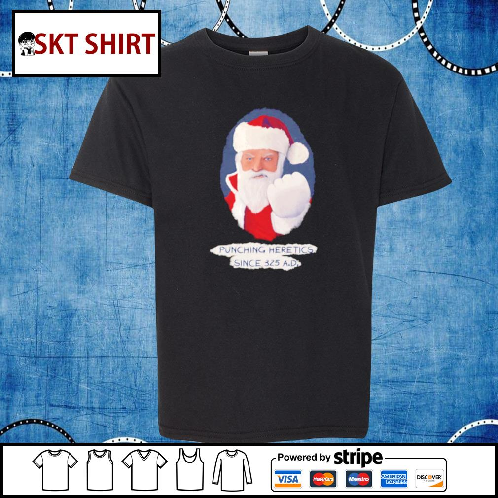Santa Punching Heretics shirt, sweater kid-shirt