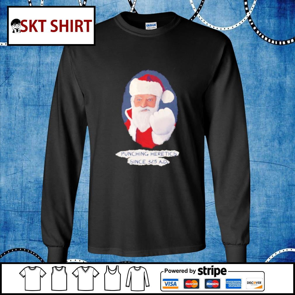 Santa Punching Heretics shirt, sweater longsleeve-tee
