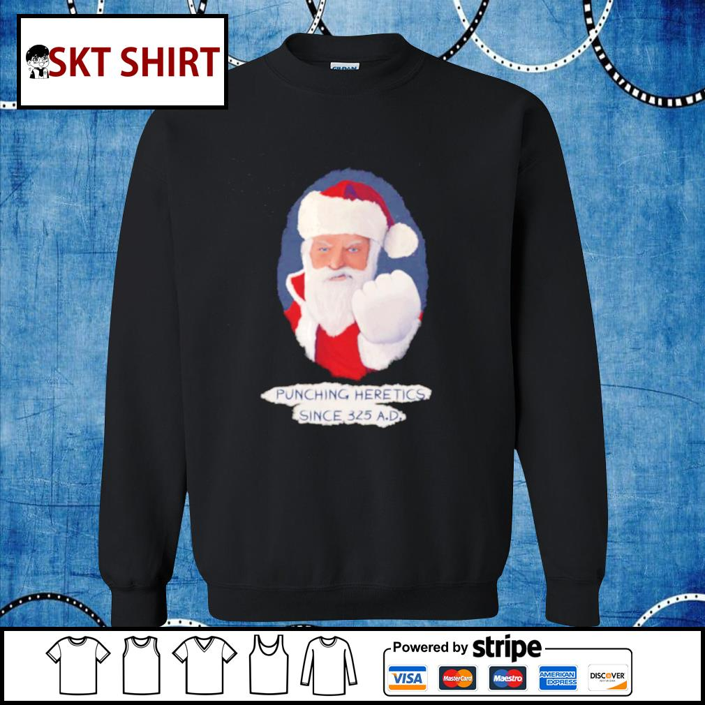 Santa Punching Heretics shirt, sweater sweater