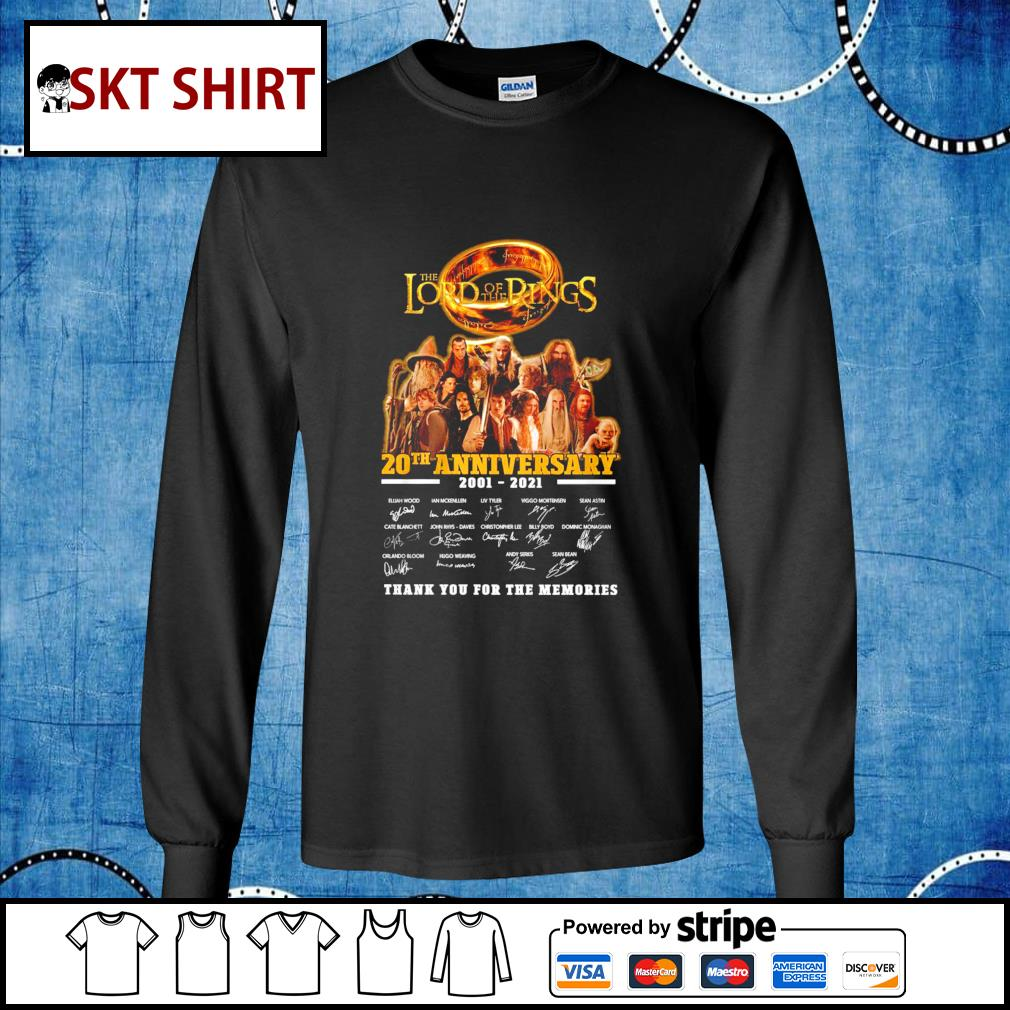 The Lord of the Rings 20th anniversary 2001-2021 thank you for the memories s longsleeve-tee